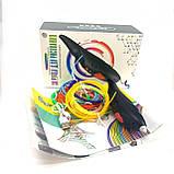 3D ручка детская для создания 3D моделей на аккумуляторе в комплекте с 8-ью цветами пластика.(Черная, Розовая), фото 2