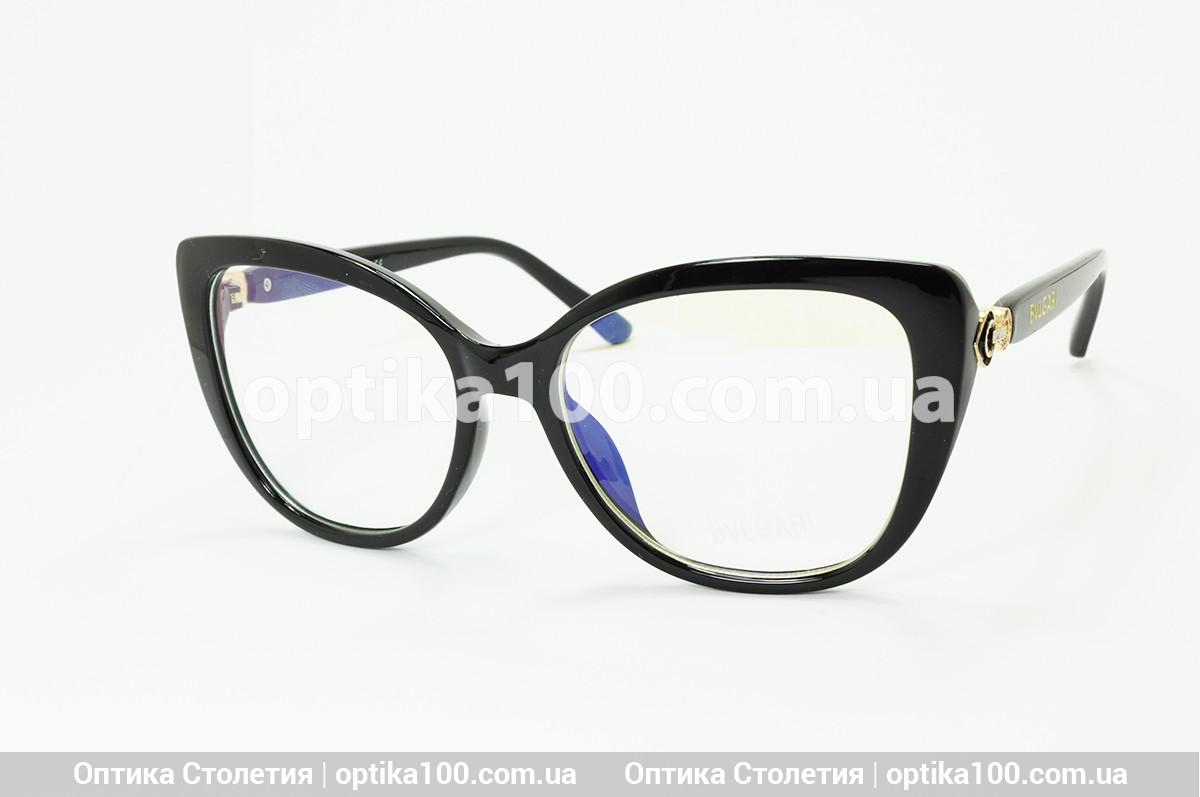 Женские имиджевые очки в стиле Bvlgari. На среднее лицо