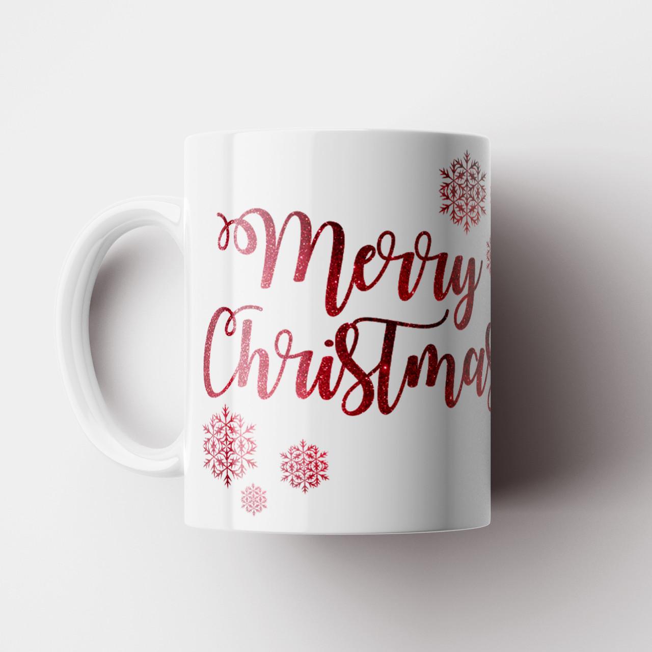 Чашка Merry Christmas. Новорічна чашка. Новий Рік