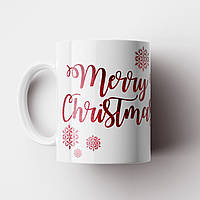 Чашка Merry Christmas. Новорічна чашка. Новий Рік, фото 1