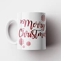 Кружка Merry Christmas. Новогодняя чашка. Новый Год