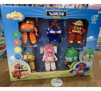 Большой набор Трансформеров героев Робокар Поли 6 в 1