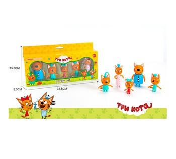 Набор  Три кота  5 героев, в коробке