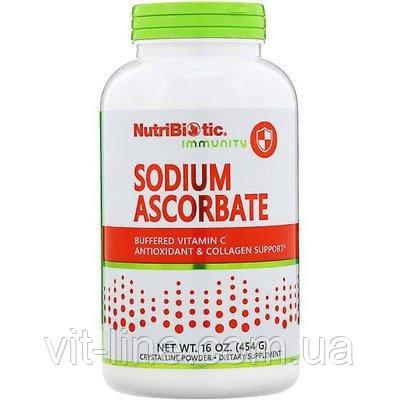 NutriBiotic, Immunity, аскорбат натрия, кристаллический порошок, 454 г (16 унций), фото 2