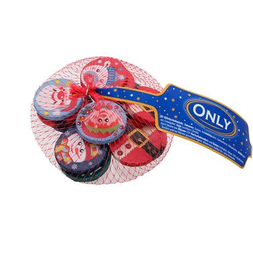 Монеты шоколадные новогодние в сетке Only, 85г(Австрия)