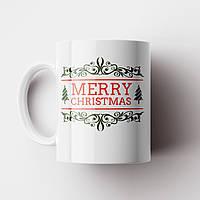 Чашка Merry Christmas. Новорічна чашка №4. Новий Рік, фото 1