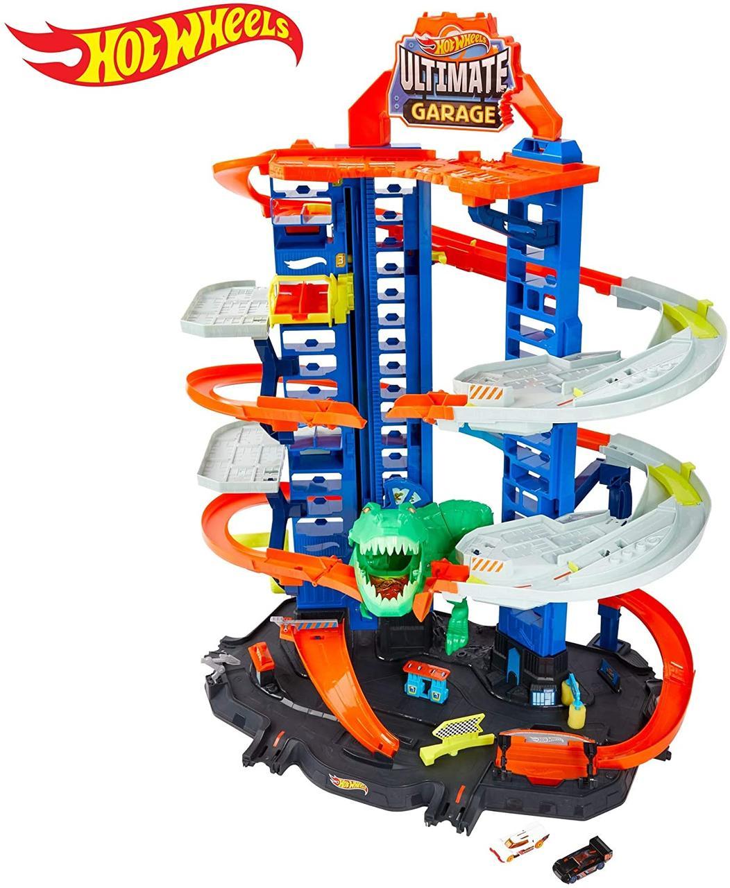 Хот Вилс Ультимейт гараж Ти-Рекс Hot Wheels City Ultimate Garage, Chomping T-Rex