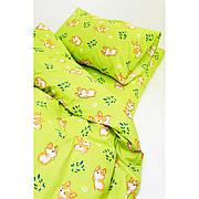 Комплект постельного белья детский ранфорс 20122 зеленый ТМ Вилюта