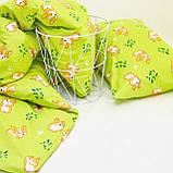 Комплект постельного белья детский ранфорс 20122 зеленый ТМ Вилюта, фото 2