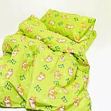 Комплект постельного белья детский ранфорс 20122 зеленый ТМ Вилюта, фото 3