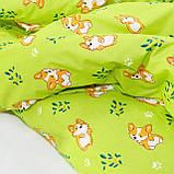 Комплект постельного белья детский ранфорс 20122 зеленый ТМ Вилюта, фото 4