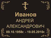 ТАБЛИЧКА НА КРЕСТ (ИЗГОТОВЛЕНИЕ ЗА 1 ЧАС) ОБОЛОНЬ