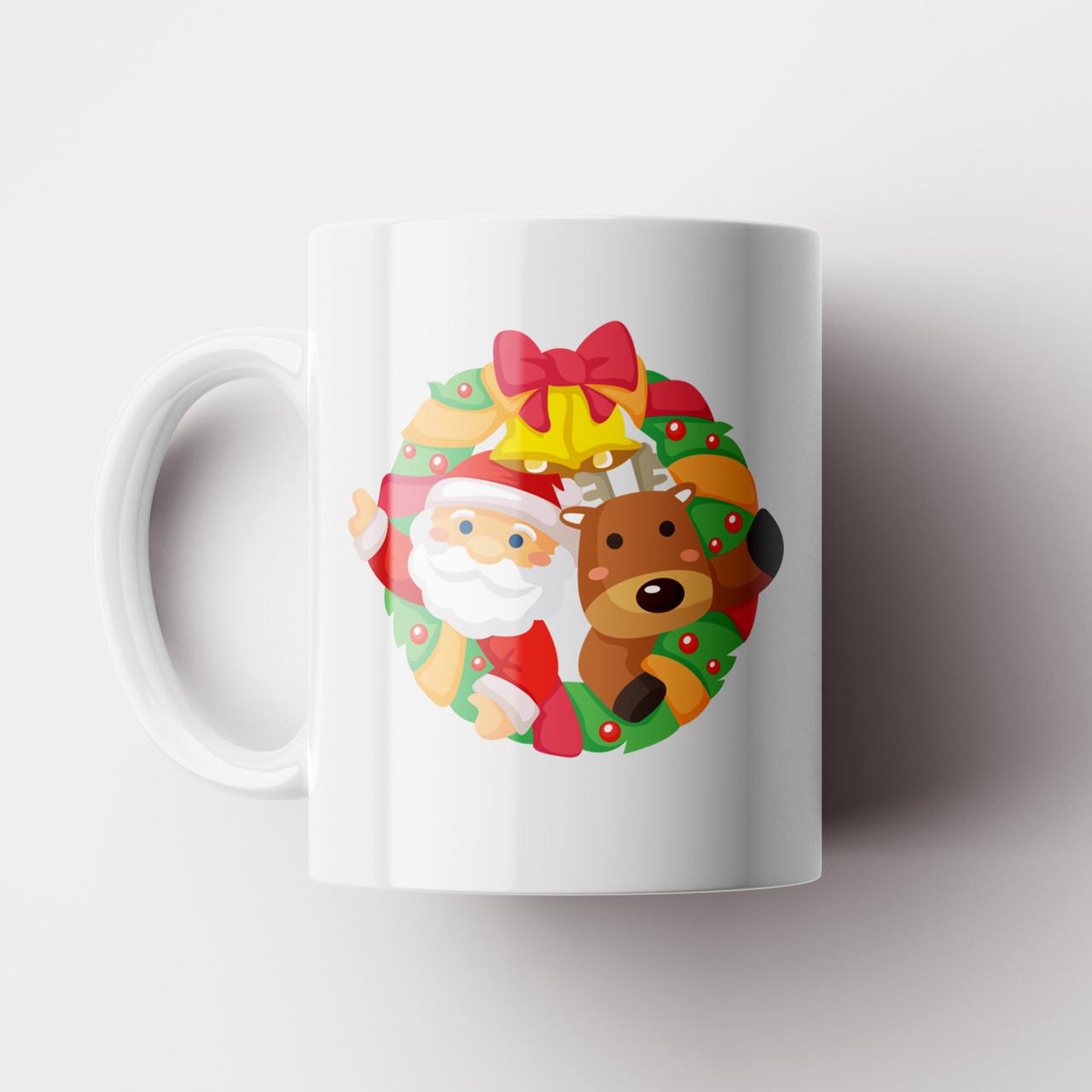 Чашка Ялинка. Merry Christmas. Новорічна чашка №10. Новий Рік