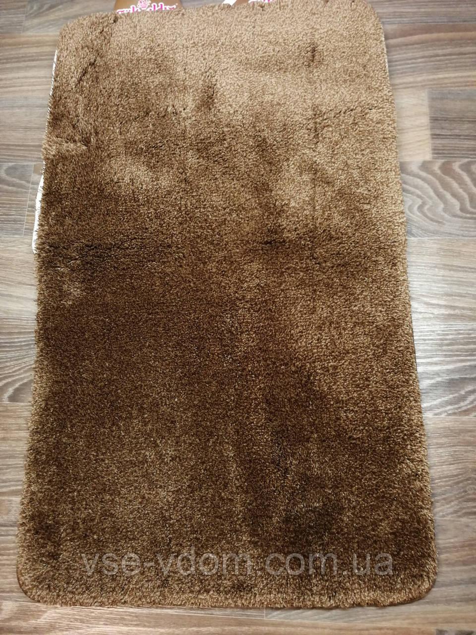Набор ковриков для ванной комнаты коричневый 60*100