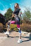 Женские фитнес лосины для спорта в принт, фото 2