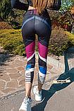 Женские фитнес лосины для спорта в принт, фото 3