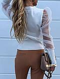 Жіноча блуза з рукавами ліхтарик, фото 2