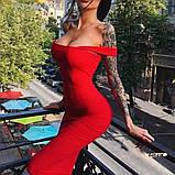Женское платье футляр миди с широкими бретелями, фото 5
