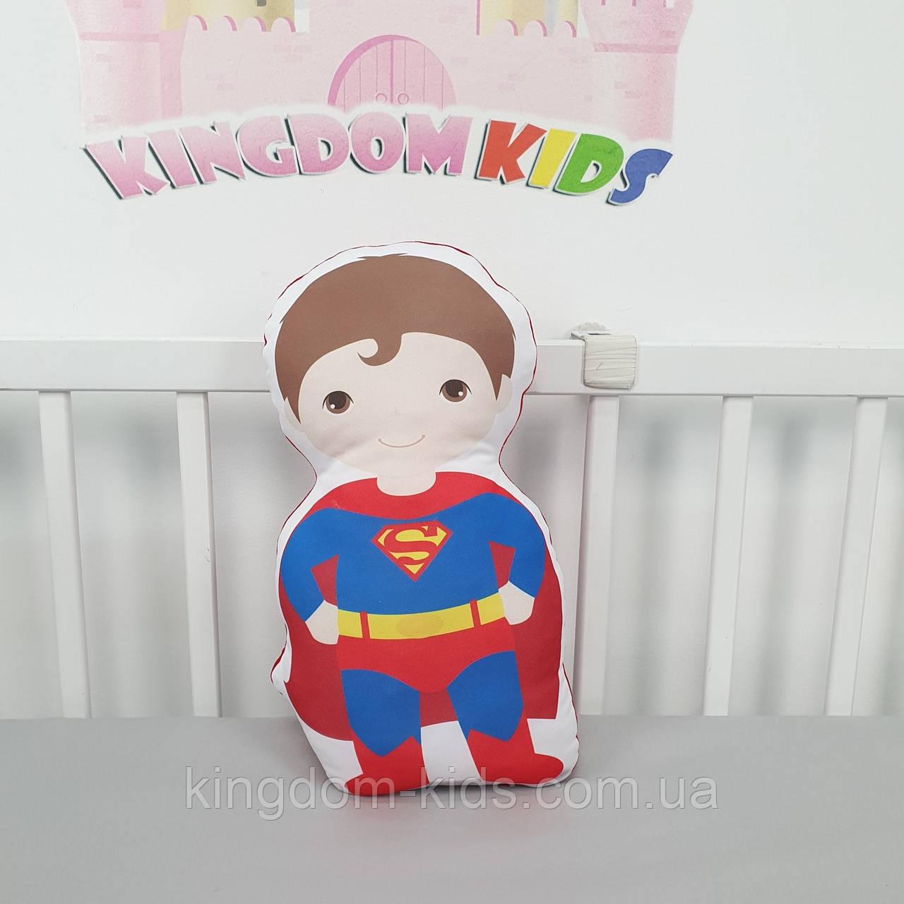 """Игрушка-подушка """"Супермен"""" с хлопковым велюром на задней стенке"""