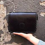 Женская сумка черная маленькая через плече, фото 4