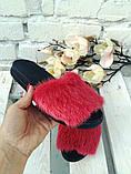 Женские шлепанцы натуральные с мехом из натуральной норки, фото 2