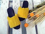 Женские шлепанцы натуральные с мехом из натуральной норки, фото 6