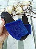 Женские шлепанцы натуральные с мехом из натуральной норки, фото 7