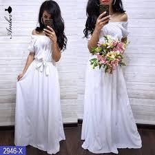Женское платье в пол Крестьянка