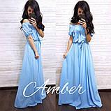 Женское платье в пол Крестьянка, фото 4