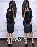 Женское платье из костюмки с поясом, фото 8