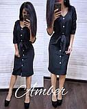 Женское платье из костюмки с поясом, фото 9