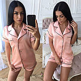 Женский костюм в пижамном стиле из шелка, фото 2