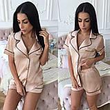 Женский костюм в пижамном стиле из шелка, фото 4