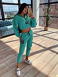 Женский  Костюмчик с нашивками, укороченная кофта + штаны, фото 3