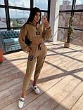 Женский  Костюмчик с нашивками, укороченная кофта + штаны, фото 6