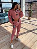 Женский  Костюмчик с нашивками, укороченная кофта + штаны, фото 8