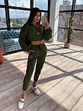 Женский  Костюмчик с нашивками, укороченная кофта + штаны, фото 9