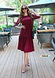Женское платье оверсайз миди красивого цвета фуксия, фото 4