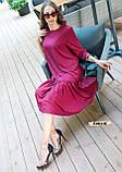Женское платье оверсайз миди красивого цвета фуксия, фото 6