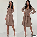 Жіноче плаття міді з поясом, фото 6