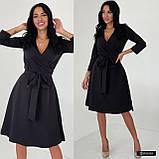 Жіноче плаття міді з поясом, фото 7