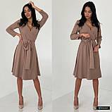 Жіноче плаття міді з поясом, фото 8