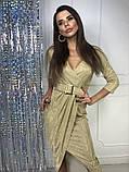 Женское вечернее сияющее платье, фото 6