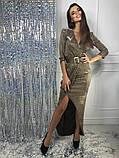 Женское вечернее сияющее платье, фото 9