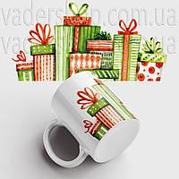 Кружка Подарки. Merry Christmas. Новогодняя чашка №15. Новый Год, фото 1