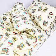 Комплект постельного белья детский ранфорс 20123 бежевый ТМ Вилюта