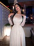 Женское Блестящее платье  макси с разрезом, фото 2