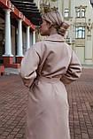 Пальто на запах под пояс., фото 3