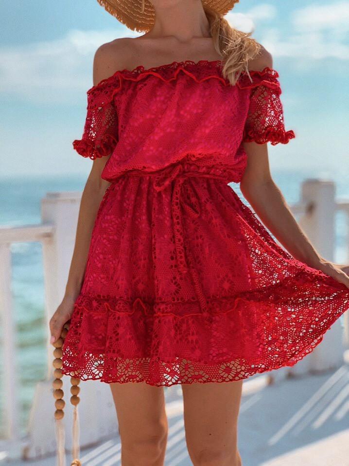 Женское летнее нежное платье мини