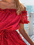 Женское летнее нежное платье мини, фото 3